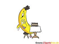 Cartone animato banana, clip art, foto, illustrazione
