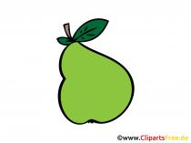 Birne Bild, Clipart, Illustration, Grafik, Zeichnung kostenlos