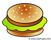 Clipart Hamburger - Essen Bilder