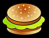 Clipart Hamburger - voedselbeelden