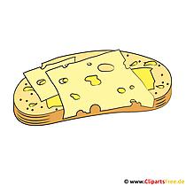 Eten en drinken clipart - kaas en brood