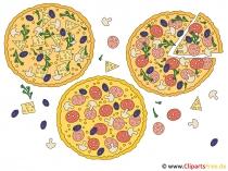 クリップアートピザ