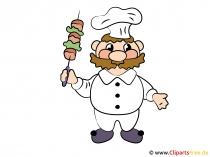 Cartoon chef-kok