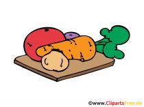Groenten in de keuken Beeld, clipart, grafische illustratie, tekening
