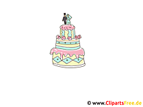 Tort weselny clipart