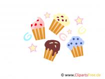 Cupcakes Clipart, Afbeeldingen, Afbeeldingen, Illustraties gratis