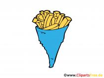 Pomfrites afbeelding, clip art, illustratie, grafisch, tekenen gratis