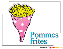 Patate fritte immagine clipart gratis