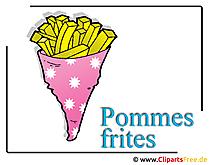 Pommes Frites Bild Clipart free