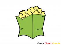 Pop-Corn Bild, Clipart, Illustration, Grafik, Zeichnung kostenlos