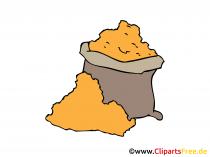 Sack mit Getreide Bild, Clipart, Illustration, Grafik, Zeichnung kostenlos