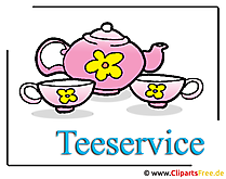 Teeservice Clipart free