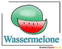 Watermeloen clip art gratis