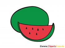 Watermeloentekening, afbeelding, clipart