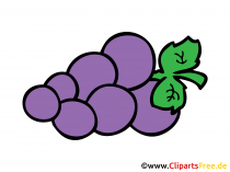 Druiven getekend in strips stijl Clipart