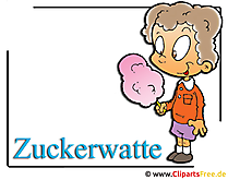 Zuckerwatte Clipart-Bild free