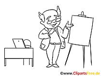 講師のクリップアート、画像、デッサン、漫画