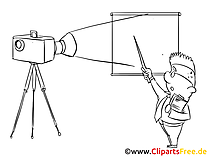 Film Projektor Clipart Illustration