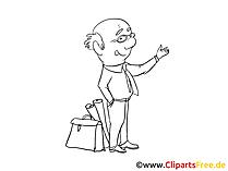 Finanzberater Clipart, Bild, Zeichnung, Cartoon