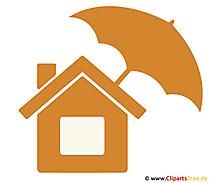 Hausratversicherung Clipart - Grafik