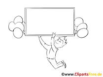 Leerer Zettel Clipart, Bild, Grafik