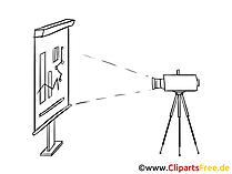 Leinwand und Beamer Clipart, Bild, Zeichnung, Cartoon