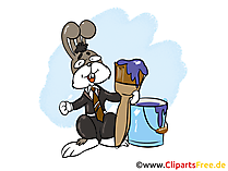 Malermeister Bild, Clipart, Grafik, Cartoon, Illustration
