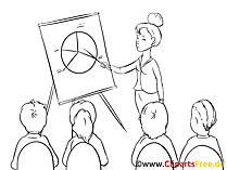 Marktanteile Bild, Clipart, Grafik, Zeichnung