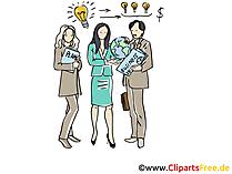 Mitarbeiter im Büro Clipart, Grafik, Bild