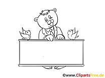 Mitteilung  Clipart, Bild, Zeichnung, Cartoon
