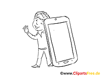 Mobile Online Clipart, Bild, Zeichnung, Cartoon