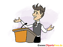 Parteileader Bild, Clipart, Grafik, Cartoon, Illustration