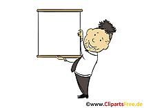Plakat zur Beschriftung Bild, Clipart, Illustration