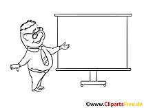 Plakatsaender Clipart, Bild, Zeichnung
