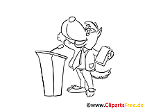 Podium Clipart, Bild, Zeichnung, Cartoon