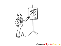 Präsentation Cliparts schwarz-weiss