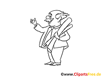 Professor Clipart, Bild, Zeichnung, Cartoon
