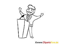Rednerpult Clipart, Bild, Zeichnung, Cartoon