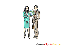 Reisebüro Clipart, Grafik, Bild, Cartoon