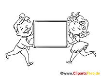 Schild zum Beschriften Clipart, Bild, Zeichnung