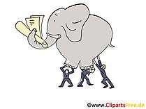 Schwere Aufgabe Clipart, Grafik, Bild, Cartoon