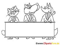 Sitzung Clipart, Bild, Zeichnung, Cartoon