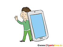 Smartphone Clipart, Bild. Grafik, Cartoon