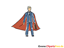 Superman Sales Manager Clipart, Image, Cartoon