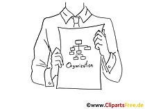 黒と白の企業構造クリップアート