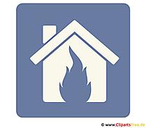 Versicherung Brandschutz Clipart