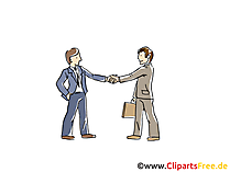 Vertragsabschluss Clipart, Grafik, Bild