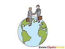 Weltkugel, Handel Clipart, Grafik, Bild