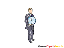 Zeit Clipart, Grafik, Bild, Cartoon