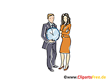 Zeitmanagement Clipart, Grafik, Bild